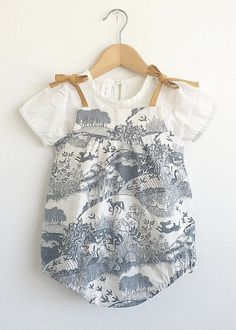 Handmade Baby Romper & Blouse | SwallowsReturn on Etsy