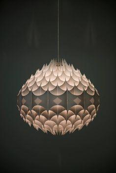Rare Rhythmic ceiling lamp by Havlova Milanda for Vest, Austria