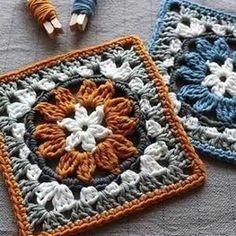 Anemone granny square crochet pattern ༺✿ƬⱤღ http://www.pinterest.com/teretegui/%E2%9C%BF%E0%BC%BB