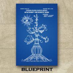 Disney World Astro Orbiter Patent Print Disneyland Spaceship | Etsy Technical Artist, Jeep Gifts, Walt Disney Co, Amusement Park Rides, Patent Drawing, Patent Prints, Unique Image, Spaceship, Line Art