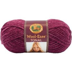 Wool-Ease Tonal Raspberry -  Wool-Ease® Tonal is a bulky-weight yarn that comes in 21 beautiful painterly colors. Each color is tone-on-tone, creating a hand-dyed artisanal appearance to any knit or crochet projects.tone-on-tone fuchsiaWool-Ease® Tonal is a bulky-weight yarn that comes in 21 beautiful painterly colors. Each color is tone-on-tone, creating a hand-dyed artisanal appearance to any knit or crochet projects.  Weight Category: 5    Skein Weight: 4.00 oz  Fiber Content: 80%…