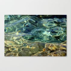 Water surface (3) Stretched Canvas by Angela Bruno - $85.00