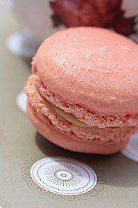 macaron rhubarbe