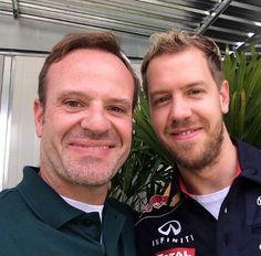 Sebastian Vettel & Rubens Barrichello
