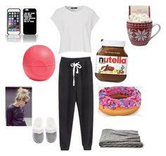 """""""Lazy day"""" by riley-fabfasion ❤ liked on Polyvore featuring interior, interiors, interior design, home, home decor, interior decorating, Victoria's Secret, Eos, a&R and Topshop"""