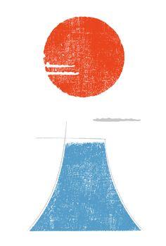年賀状2019 No.18: Mt.二〇一九 Japanese Pop Art, Japanese Graphic Design, Layout Design, Design Art, New Year Illustration, Happy New Year 2019, Postcard Design, Office Wall Art, New Year Card