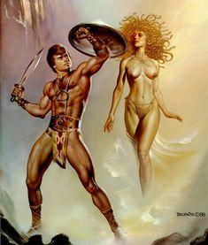Boris Vallejo - Perseus and Medusa. Tags: perseus, medusa, gorgons,