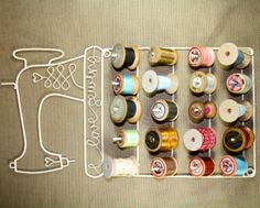 Thread spool holder  http://www.themakeryonline.co.uk/our-shop/tools-notions/i-love-sewing-spool-rack-lge/