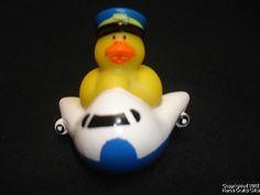 "Rubber Duck AIRPLANE Pilot Transportation NEW 2"" 4 Dashboard Desk Ducky HotTub"