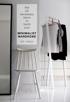 how to build your own MINIMALIST WARDROBE + free checklist