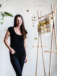 Abby Seymour - Jeweller / Designer in her Melbourne studio