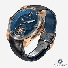 Montandon Windward in electro-stable bronze with blue dial