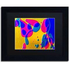 Trademark Fine Art Colour Fun I Canvas Art by Beata Czyzowska Young, Black Matte, Black Frame, Size: 16 x 20