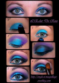Maquillage yeux noir on pinterest makeup maquillage yeux and eyes - Chambre mauve et turquoise ...