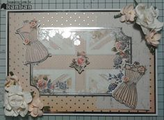 Shabby and Chic A5 card, with foiled vellum.