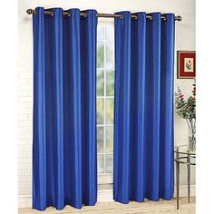 Love the color of these and only $10 bucks Belle Maison Tribecca Faux-Silk Grommet Window Panel