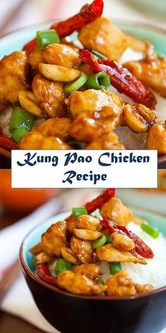 Kung Pao Chicken - tender and silky chicken stir-fry in mout.- Kung Pao Chicken – tender and silky chicken stir-fry in mouthwatering Kung Pao sauce, this recipe is better than Chinese takeouts Comida China Chop Suey, Healthy Recipes, Cooking Recipes, Healthy Chinese Recipes, Asian Food Recipes, Cooking Tips, Thai Curry Recipes, Asian Dinner Recipes, Quick Recipes