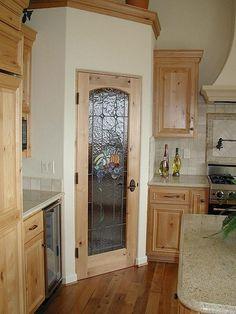 Corner pantry just with a different door
