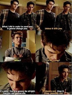 Teen wolf - Scott, Stiles, and Liam. Way to go, Stiles, you made him cry ;p