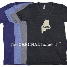 Maine Home. Tshirt Womens Cut by HomeStateApparel on Etsy, $21.95