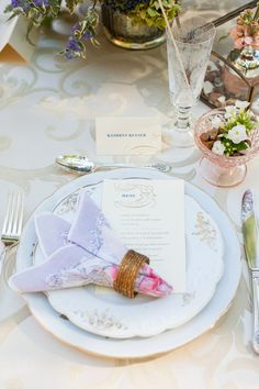 Lavender-colored place setting | Photo by Nathan Peel via Limn & Lovely