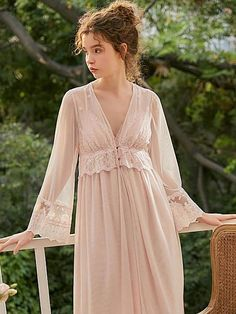 Sexy Dresses, Dress Outfits, Nice Dresses, Vintage Nightgown, Lace Kimono, Lingerie Dress, Vintage Inspired Dresses, Mantel, Trending Outfits