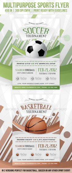 Multipurpose Sports Event Flyer #GraphicRiver Multipur