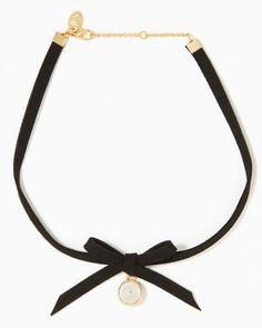 785317096da Suede Bow Choker Necklace