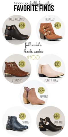 fall 2013 ankle boots - all under $100!!