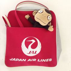 Japan Airlines Tote Bag Luggage .  Come Fly WIth Me . by joonE, $32.00