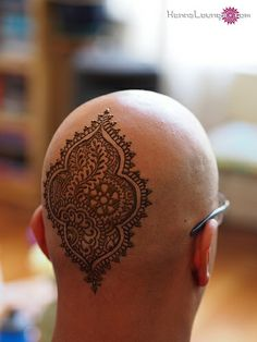 Henna on a man's head
