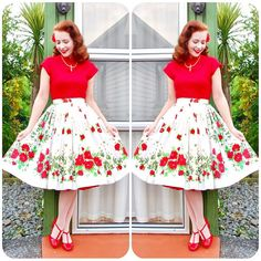 """797 Likes, 9 Comments - ❤️Amy❤️ (@missheroholliday) on Instagram: """"Today's outfit: Necklace & skirt - vintage Top - @vivienofholloway  Heels - @baitfootwear"""""""