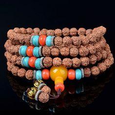 Tibetan 108 rudraksha beads mala bracelet