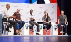 Mariana Costa con Barack Obama y Mark Zuckerberg. // Mariana Costa, la joven peruana que impulsa un boom de mujeres en el sector tecnológico de América Latina