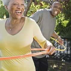 Grab a Hula-Hoop and have fun while you exercise.