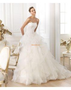 Court Train Spring Sleeveless Wedding Dresses 2014