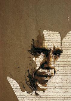President Barack Obama by neo innov - Amazing Portrait Illustrations by Florian Nicolle  <3 <3