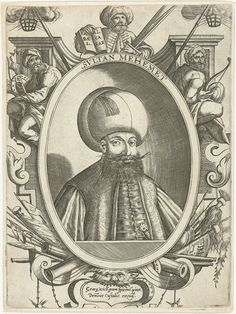 Portret van Sultan Mehemet, Dominicus Custos, 1579 - 1615