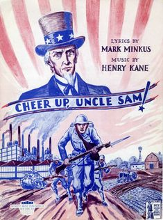 UNCLE SAM WORLD WAR II WWII Sheet Music 1943 Cheer Up Uncle Sam