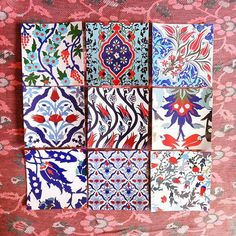Kitchen/ bathroom Turkish tile decals 44 numbers by Bleucoin - Home Design Turkish Decor, Turkish Design, Turkish Tiles, Turkish Art, Turkish Lamps, Kitchen Wall Decals, Tile Decals, Kitchen Wall Colors, Kitchen Tiles