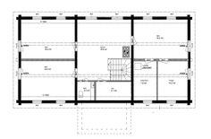 Pohjalaistalo 3, 118m2+114m2 | Rakennus Luoma Oy Floor Plans, Diagram, Floor Plan Drawing, House Floor Plans