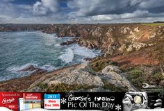 View from Icart Point on this blustery penultimate day of the year. #LoveGuernsey http://chrisgeorgephotography.dphoto.com/#/album/cbc2cr/photo/20803425 Perrys Guide Ref: Page 30 B5 Picture Ref: 30_12_13 — in Guernsey.