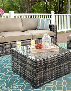 Make your outdoor space come to life with a gorgeous outdoor set like this! If you're looking for another size, we've got this collection in all types of modular arrangements!