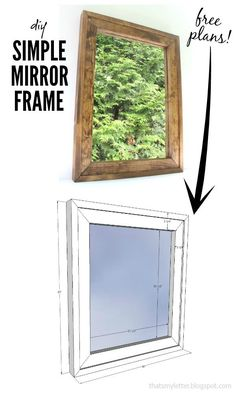 That's My Letter: Simple Mirror Frame with free plans