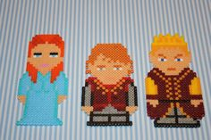 Sansa Stark, Tyrion Lannister and Joffrey Baratheon - Game of Thrones magnets hama perler bead sprites by DecorarteLeon