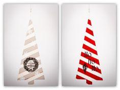 Christmas tree decoupage