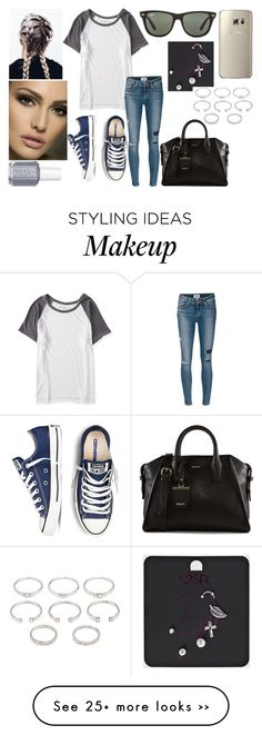 """Unbenannt #512"" by mirihexe on Polyvore featuring Aéropostale, Forever 21, Paige Denim, DKNY, Ray-Ban and Essie"