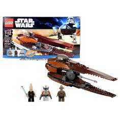 Lego Year 2011 Star Wars Series Vehicle Set #7959 - GEONOSIAN STARFIGHTER with Opening Cockpit, Rotating Laser Cannon and Proton Torpedo Launcher Plus Ki-Adi-Mundi, Clone Commander Cody and Geonosian Pilot Minifigures (Total Pieces: 155)