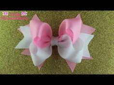 Бант из ленты 2,5см МК/ Bow of ribbon 2,5cm DIY/PAP Laço da fita 2,5cm Tutorial #131 - YouTube