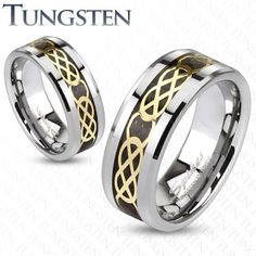 Wolframový snubní prsten